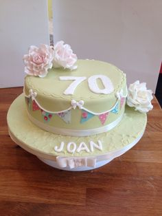 70 th birthday cake