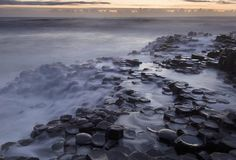The Giant's Causeway in Northern Ireland    The mostly hexagonal basalt columns were formed as lava rapidly cooled and cracked after a volcanic eruption 60 million years ago
