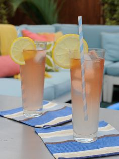 Fancy version of a Long Island Iced Tea from Geoffrey Zakarian via Food Network (rose champagne replaces the soda!)