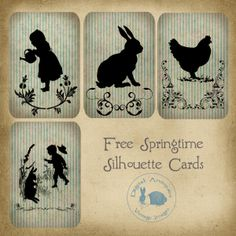 Big Brown Dog Primitives: New Rabbit Postcards and Some Free Images for Spring...