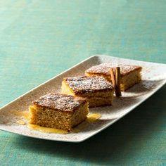 Warm Honey & Olive Oil cake.