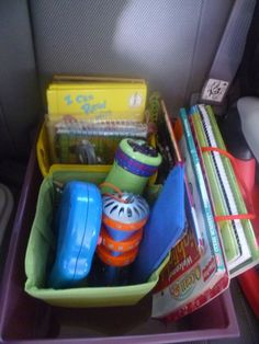 Mama to 4 Blessings - Our Homeschool Blog: CAR ORGANIZATION FOR YOUR KIDS (MOM'S QUICK TIP OF THE WEEK) http://mamato3blessings.blogspot.com/2012/08/car-organization-for-your-kids-moms.html