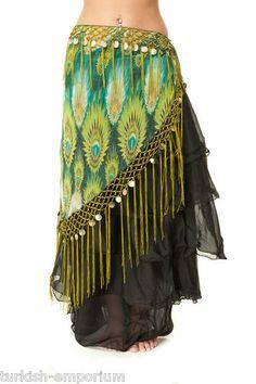 Tribal Fringe Fusion Belly Dance Hip Scarf V Shaped Apparel Dancing Costume Wear | eBay