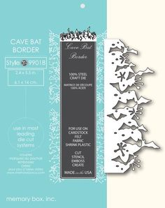 Memory Box Die CAVE BAT BORDER 99018