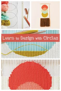 """Learn how to weave circular shapes on a DIY tapestry loom. Try this """"Triple Scoop"""" hanging, then get creative with your own circular designs!"""