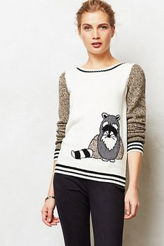 Striped Bandit Pullover #anthropologie OH MY GOD!!!! THIS SWEATER WAS MADE FOR MEEEEE!!!! AAAAHHHHHH!!!