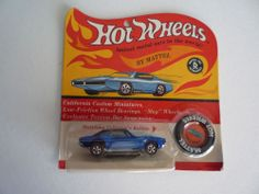 Original Custom Camaro Mattel Hot Wheels redline blister package pack BP 1967