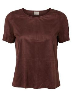 Faux suede tee from VERO MODA. Love this hue for autumn!