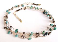 Sale 20% Off Turquoise crochet wire by nefertitijewelry2009 on Etsy, $24.00