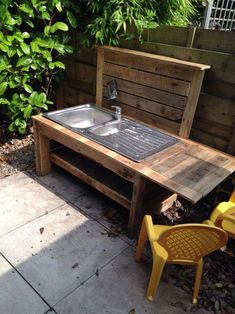 The pallet mud kitchen is an easy and convenient way of creating the kitchen. It is reasonable and easy to do thing. Pallets wood mud kitchen requires only the recycled pallet wood which has been thrown away. Pallet mud kitchen is a great way of bringing love for nature to your home. Pallets can be easily found either in home or from the store.