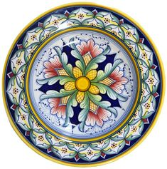Painted Plates, Plates On Wall, Flower Art Images, Floral Vintage, Plate Art, Star Flower, Art Drawings Sketches, Mandala Art, Ceramic Art