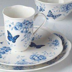 Mariposas en azul