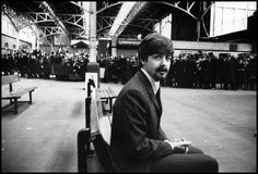 "Paul McCartney in a disguise during filming of ""A Hard Day's Night."" London, England, 1964."