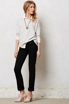 Paige Skyline Straight Jeans #anthropologie