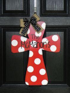 Wooden Cross Door Hanger by TylerCatherines on Etsy, $40.00