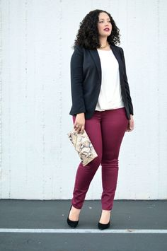 Girl With Curves: Cranberry Denim