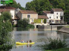 bike ride near River Charente .Cognac country - Jarnac