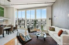 Contemporary loft-style living room