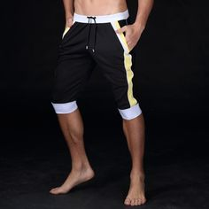 Summer leisure Active shorts men trousers elastic brand men shorts mens fashion quick dry outer wear trousers at home