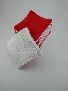 Lingettes lavables rouge - beauté et soins bio - Ginger Passion - Fait Maison