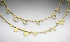 LOUISE O`NELL necklaces 18ct yellow gold with diamonds