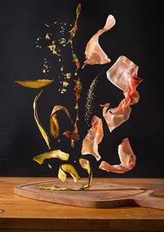 berlin-based designer nora luther and photographer pavel becker have combined their creative spirit for series of food art photos, which highlight the raw ingredients that make up each dish. Luther, Food Photography Styling, Food Styling, Art Photography, Splash Photography, Levitation Photography, Visual Communication, Food Illustrations, Creative Food