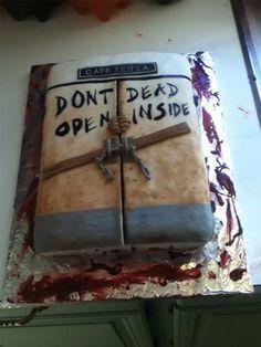 The Walking Dead cake. Don't open dead inside!
