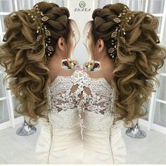 Should I ever decide to… - Best New Hair Styles Wavy Wedding Hair, Elegant Wedding Hair, Wedding Hair And Makeup, Bridal Hair, Hair Makeup, Quince Hairstyles, Wedding Hairstyles For Long Hair, Pagent Hair, Prom Hair