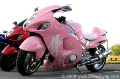 Pink motorcycle!