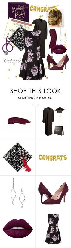 """""""PhD Graduated 🎓"""" by sam-mabie ❤ liked on Polyvore featuring Avon, Nine West and Lime Crime"""