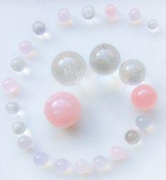 Spiral Crystal Grid by Woodlights Woudlicht - Rose Quartz, Pink Girasol and Quartz