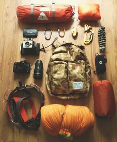 Things Organized Neatly - hiking gear