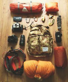 Things Organized Neatly - hiking gear