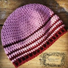 Kirstens Knits: Pattern - Cherry Stripe Women's Beanie