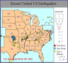 united states new madrid fault line | new madrid region recent quakes tighter map new google map