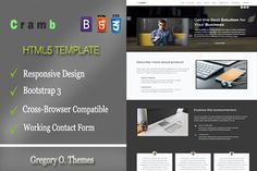 Cramb – Bootstrap Landing Page. Bootstrap Themes. $4.00