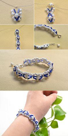 Bugle beaded bracelet, like it? LC.Pandahall.com will release the tutorial soon. #pandahall