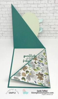 Fancy Fold Cards, Folded Cards, Joy Fold Card, Tri Fold Cards, Unique Cards, Cool Cards, Diy Creative Cards, Tarjetas Diy, Card Making Tutorials