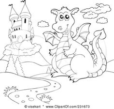 RF Dragon Clipart Illustration by Pams Clipart  Stock Sample