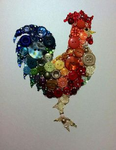 rooster crafts | Button rooster | Craft Ideas