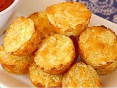 Healthy Snacks Your kids won't mind that you tricked them into eating cauliflower when you give them these Baked Cauli-Tots! - Cheesy, crispy, so amazingly good that they'll easily replace those other tots as your family's favorite side dish. Cauli Tots, Cauliflower Tots, Cauliflower Recipes, Tater Tots, Baby Food Recipes, Low Carb Recipes, Cooking Recipes, Healthy Recipes, Snack Recipes