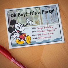 """Your friends will say """"see ya real soon"""" when they receive this adorable party invitation in the mail."""