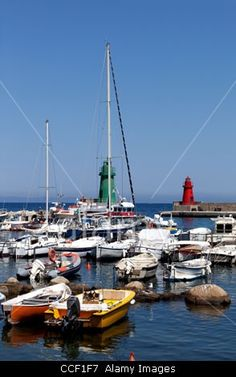 Boats In The Small Marina Of Giglio Island, Tuscan Archipelago, Italy.  Rights Managed photography available at Alamy - From £15