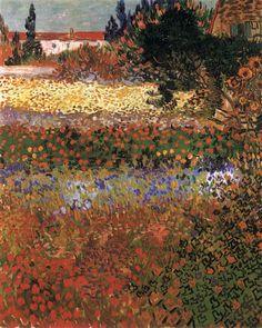VAN GOGH, Vincent Flowering Garden July 1888, Arles Oil on canvas, 92 x 73 cm Metropolitan Museum of Art,, New York