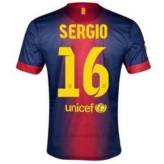 12/13 Barcelona #16 Sergio Home Soccer Jersey Shirt Replica