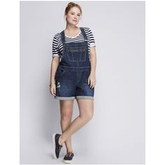 f3caa3d7915 Lane Bryant Plus Size Denim Short Overalls