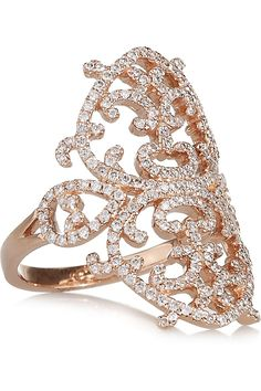 Diana Kordas Arabesque 18-karat rose gold diamond ring