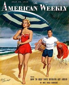 """""""the american weekly"""" cover, 1953.  Illustration by Bill Randall."""