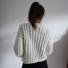 dba9c43f1 Chunky Brioche Sweater pattern by Witre Design