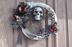 "Spooky 18"" Halloween wreath. on Etsy, $74.00"